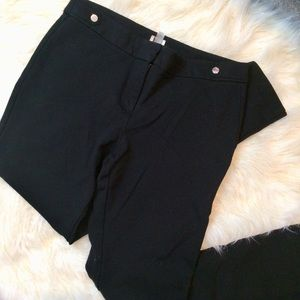 Anne Klein Straight Leg Black Pants Trousers 10